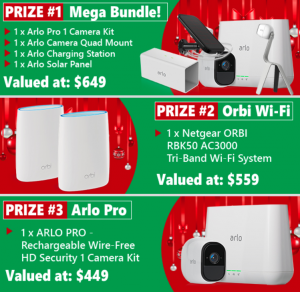 Harris Technology – Win 1 of 3 mega prizes valued at up to $649