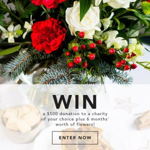 Interflora Australia – Win a $500 donation to the charity of your Interflora Australia – Win a $500 donation to the charity of your choice & 6-months' worth of Interflora flowers for yourselfchoice & 6-months' worth of Interflora flowers for yourself