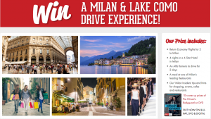 Mike Da Silva & Associates – Win a Milan & Lake Como Drive Experience valued at $10,000