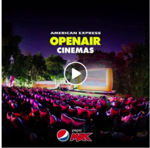PepsiCo Australia – Pepsi Max American Express Openair Cinemas – Win 1 of 250 movie tickets