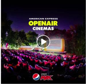 PepsiCo Australia – Pepsi Max American Express Openair Cinemas – Win 1 of 250 movie tickets