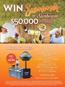 Sunbeam Australia – Win a summer of Sunbeam prize pack (100 prize packs to be won)