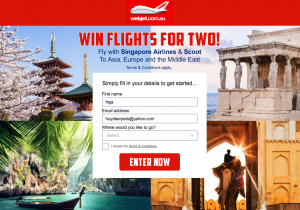 Webjet – Win return flights for 2 to Europe, Asia or the Middle East valued at $3,000