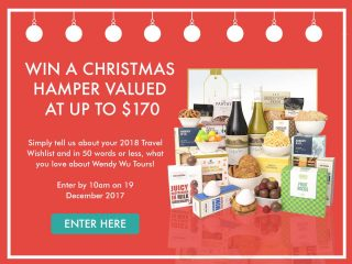 Wendy Wu Tours – Win a Christmas Hamper valued at $170
