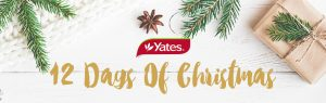 Yates – 12 Days of Christmas Giveaways