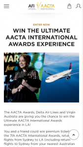 AACTA Awards – Win The Ultimate Aacta International Awards Experience In La (prize valued at $12,850)