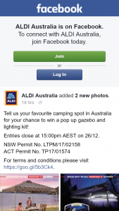 Aldi Australia – Win a Pop Up Gazebo and Lighting Kit