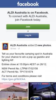 Aldi Australia – Win a Pop Up Gazebo and Lighting Kit
