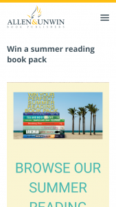 Allen and Unwin – Win a Summer Reading Book Pack