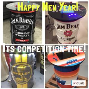 Arcade Drums & Wine Barrels – Win an Arcade Drum (valued at $1700) (prize valued at $250)