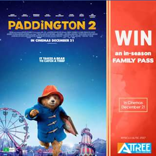 Attree Real Estate – Win a Family Pass (admit 4) to See Paddington 2