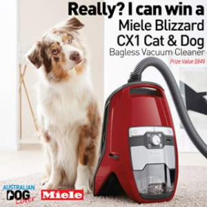 Australian Dog Lover – Win a Brand New Blizzard Cx1 Cat & Dog Bagless Vaccum Cleaner (RRP (prize valued at $849)