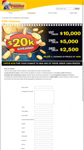 Australian Puzzler – Win a Share of 20k Cash (prize valued at $20,000)