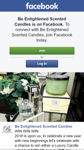 Be Enlightened Scented Candles FB – Competition (prize valued at $159.99)