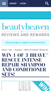 Beauty Heaven – Win 1 of 3 Bhave™ Rescue Intense Repair Shampoo and Conditioner Sets