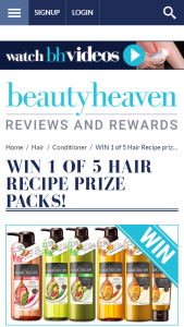 Beauty Heaven – Win 1 of 5 Hair Recipe Prize Packs