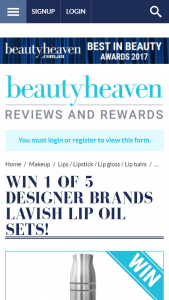 Beauty Heaven – Win One of Five Designer Brands Lavish Lip Oil Sets