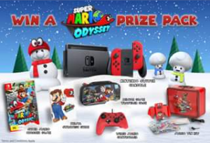 Bluemouth Interactive – Win this Awesome Super Mario Odyssey Prize Pack Worth Over $700 (prize valued at $729.79)