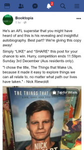 Booktopia – Win a Copy of Nick Riewoldt Autobiography