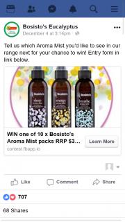 Bosistos – Win a Bosisto's Aroma Mist Pack