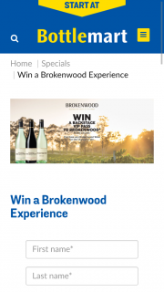 Bottlemart – Win a Backstage VIP Pass to Brokenwood (prize valued at $2,500)
