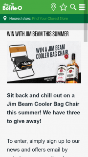 3763b68cf1 Bottle-O – Win One of Thre Jim Beam Cooler Bag Chairs (prize valued