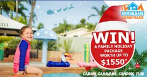 """Brisbane Holiday Village – Win a Free """"5 Night Stay"""" In One of Our Great Cosmo Cabins"""