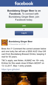 Bundaberg Ginger Beer – Win a $500 Aud Visa Gift Card From Bundaberg Brewed Drinks