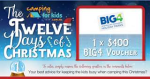 Camping for Kids – Win a $400 Big4 Voucher Thanks to Our Friends at Big4 Holiday Parks