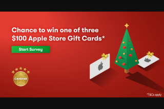 Canstar – Win One of Three $100 Apple Store Gift Cards (prize valued at $300)