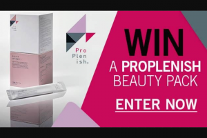 Channel 7 – Sunrise – Win a Proplenish Beauty Pack