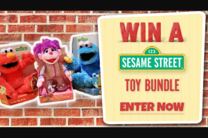 Channel 7 – Sunrise – Win a Sesame Street Toy Bundle (prize valued at $120)
