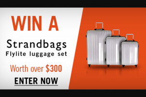 Channel 7 – Sunrise – Win a Strandbags Flylite Luggage Set Worth Over $300