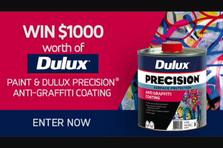 Channel 7 – Sunrise – Win $1000 Worth of Dulux Anti-Graffiti Paint