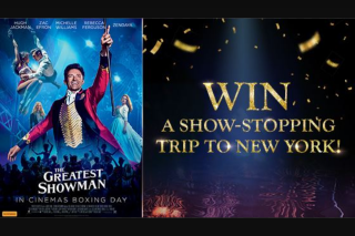 Channel Ten – Win a Show-Stopping Trip to New York (prize valued at $10,920)