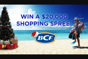 Channel 9 – Today Show – Win $20000 In Bcf Gift Cards (prize valued at $29,000)
