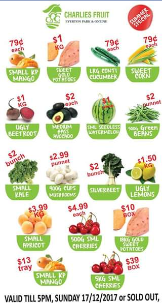 Charlie's Fruit Market – Win $100 to Spend In Store