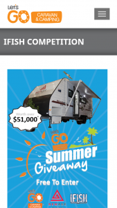 CIA-Let's Go/iFish – Win a New Age Caravan Road Owl 18ft Caravan (prize valued at $51,490)