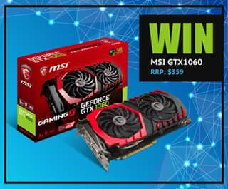 Computer Alliance – Win an Msi Gtx1060 3gb Gaming X Video Card
