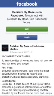 Delirium By Rose FB – Competition (prize valued at $34.95)