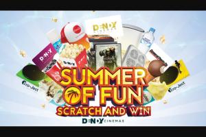 Dendy cinemas – Win Various Prizes Summer of Fun