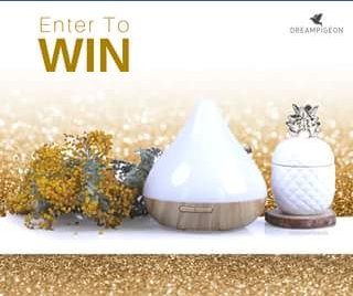 Dream Pigeon – Win this Gorgeous Raindrop Aura Ultrasonic Diffuser Christmas Giveaway