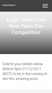 Eagle Street Pier – Win The Ultimate New Year's Eve Experience