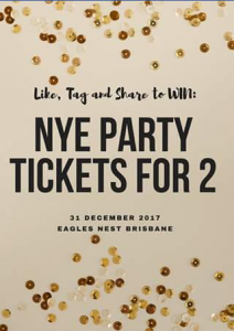 Eagles Nest Brisbane – Win 2 Tickets to Our Nye Eve Party (valued at $450) (prize valued at $450)
