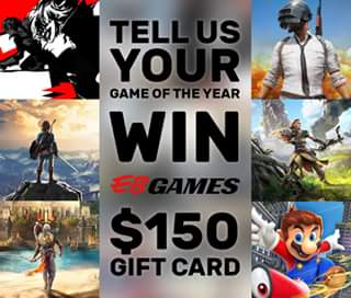 EB Games Australia – Win a $150 Eb Games Gift Card