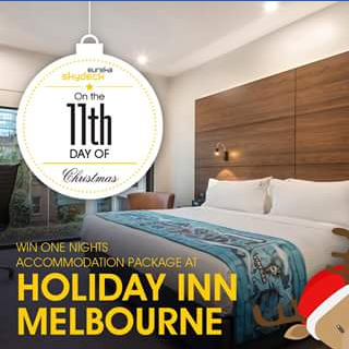 Eureka Skydeck – Win One Night's Accommodation Plus Complimentary Breakfast at Holiday Inn Melbourne on Flinders (prize valued at $300)