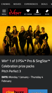 Event Cinemas Cinebuzz members – Win One of 3 PS4 Pro & Singstar Celebration Prize Packs