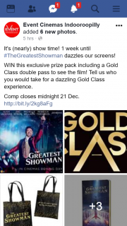 Event Cinemas Indooroopilly – Win this Exclusive Prize Pack Including a Gold Class Double Pass to See The Film