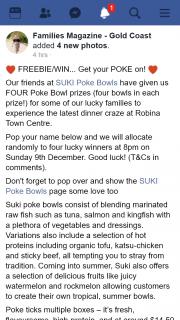 Families Magazine Gold Coast – Win Four Poke Bowl Prizes