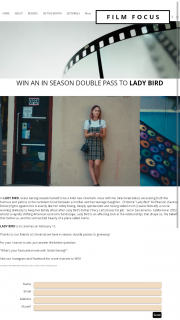 Film Focus – Win an In Season Double Pass to Lady Bird